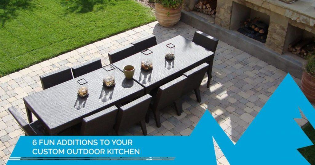 fun custom outdoor kitchen